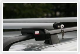 Багажник AMOS для CHEVROLET Matiz II Hatchback 2005 - 2009 с рейлингами.